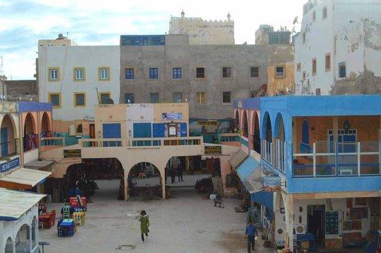 El Khaima: View across La Place from the terrace