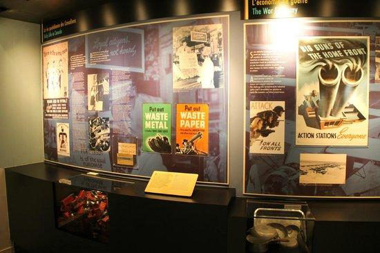 Centre Juno Beach : La guerre et les subventions et privations
