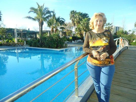 Aqua Hotel Onabrava & Spa: En el puente de la piscina