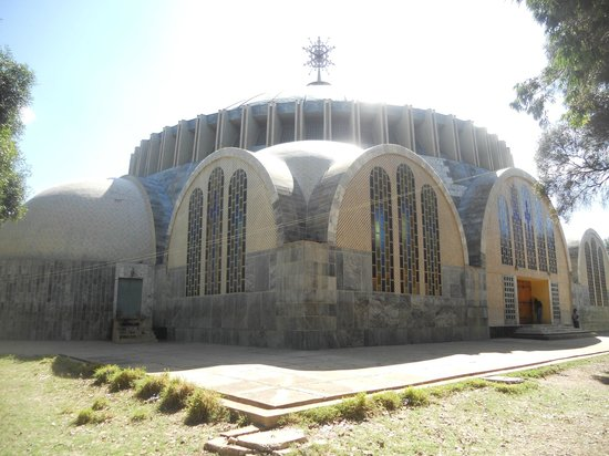 St Mary of Zion: exterior of new church