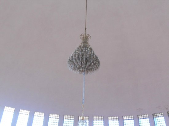 St Mary of Zion: chandelier in the new church from Queen Elizabeth