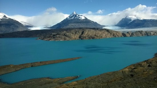 Estancia Cristina: desde el mirador...lago guillermo y glaciar upsala