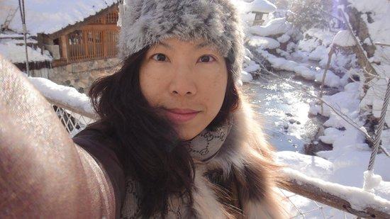Minakami Onsen : 背後一片雪茫茫 好美