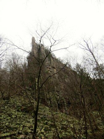 Seneca Rocks State Park: One of the Peaks at Seneca Rocks from Below