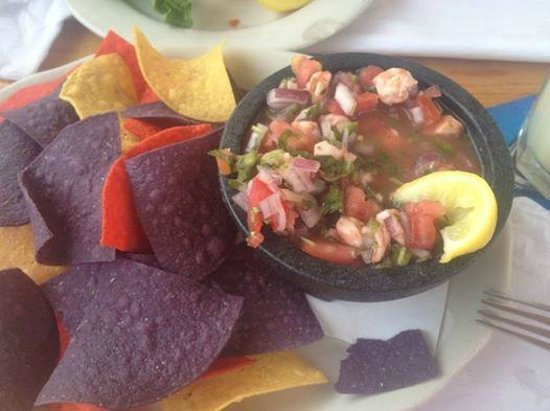 Sparky's Landing Fish and Cocktails: Shrimp Ceviche