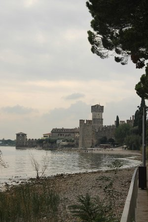 Rocca Scaligera di Sirmione: The castle as seen from the eastern beach