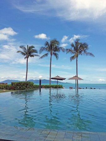 Hansar Samui Resort : Blick vom Pool aus.