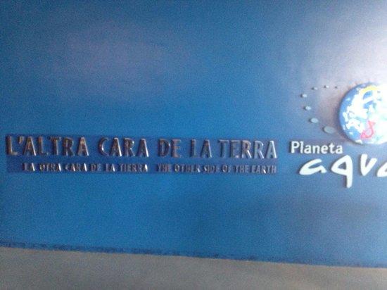 L'Aquarium de Barcelona: Insegna