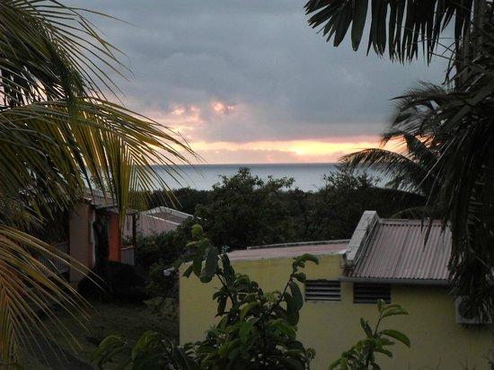 Coeur Caraibes : de la terrasse vue sur la mer !!!