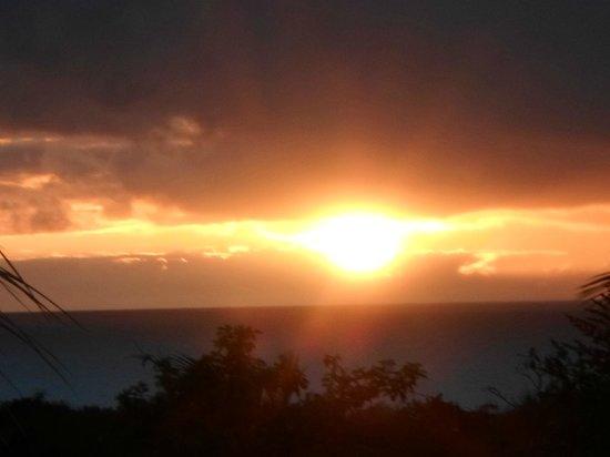 Coeur Caraibes : coucher de soleil photo prise de la terrasse
