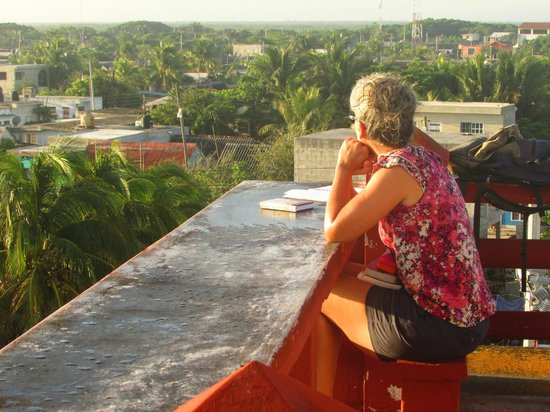 """Hotel San Felipe: The roof """"patio is a great place to take in this tropical town"""