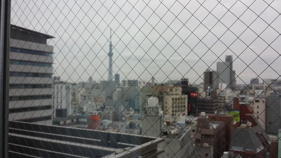 My Stays Asakusabashi: View from our window. Look at the Tokyo Skytree!