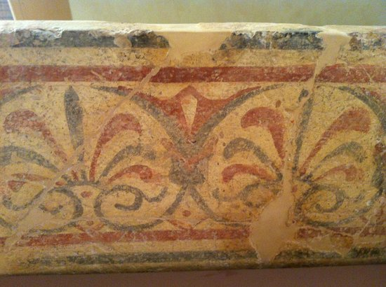 Pittura murale etrusca al Museo Archeologico di Castiglion Fiorentino