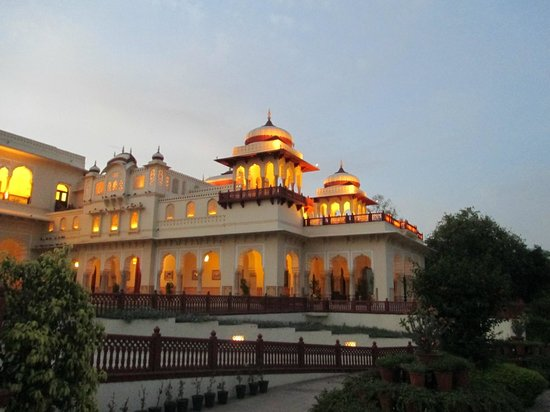 The Verandah: Early evening at the Rambagh Palace