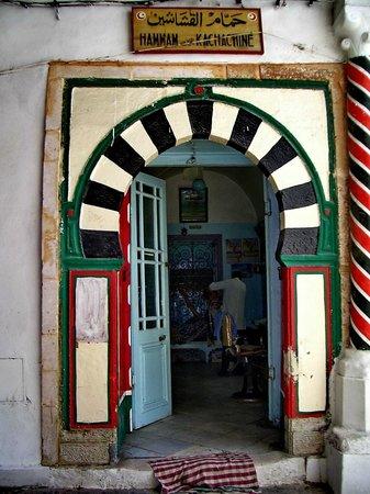 Medina von Tunis: Sauna per soli uomini, nell'ingresso il parruccchiere...