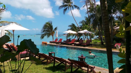Saboey Resort and Villas: Pool view