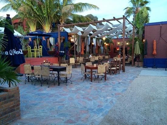 La Coronela : The patio at La Cornela