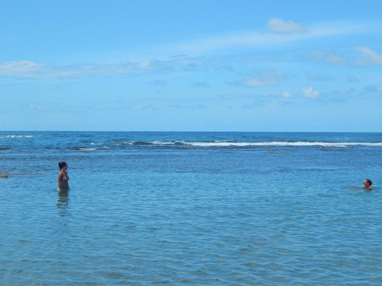 Kaya's Place: Between the reef and sshore in places, deep, calm pools are perfect for a swim