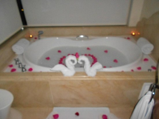 Iberostar Grand Hotel Bavaro: Gotta love our butler... he did this for us. so sweet