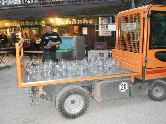 Augustiner-Keller: beer glass collection