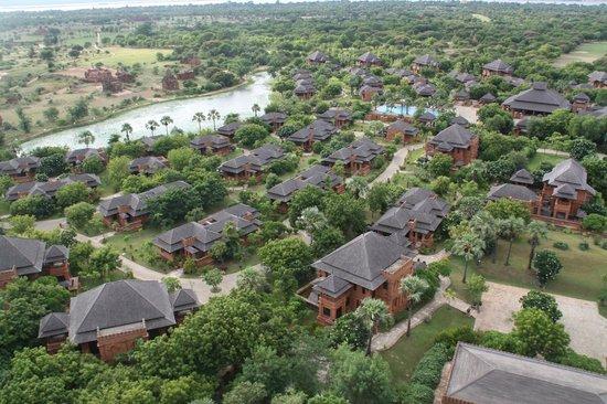 Aureum Palace Hotel & Resort Bagan : El hotel desde arriba