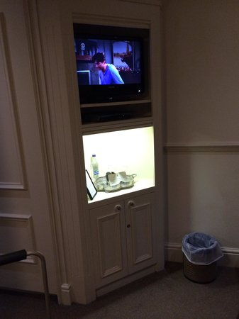 Whitley Hall Hotel: TV cabinet, complete with full sky package!!