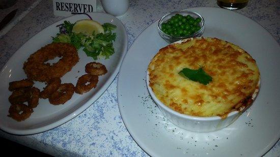 Premier Cafe: Fish Pie & Calamari