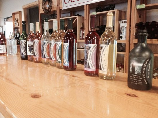 White Winter Winery: The selection you sample for $5.00 including keeping the glass.