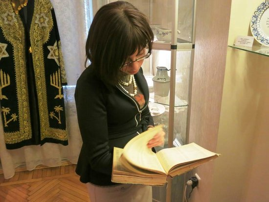 Jewish Museum of Odessa : This wonderful young lady served as my guide and made the visit most special