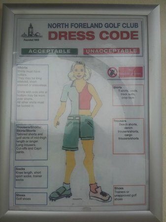 North Foreland Golf Club: dress code