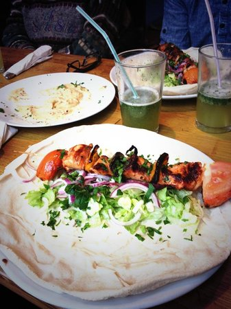 Xenophily Cafe: Our favourite! Shish Tauq, mint lemonade (so good) and hummus :)