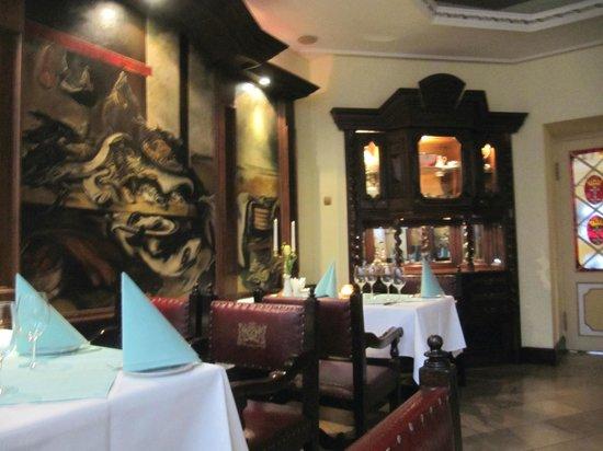 Pod Lososiem Restaurant: view of dining area