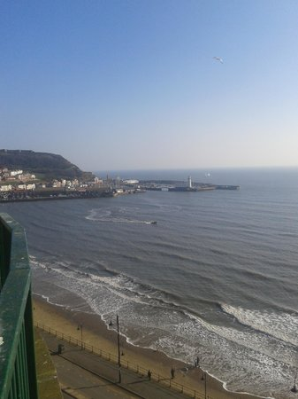 Grand Hotel Scarborough: view from our room