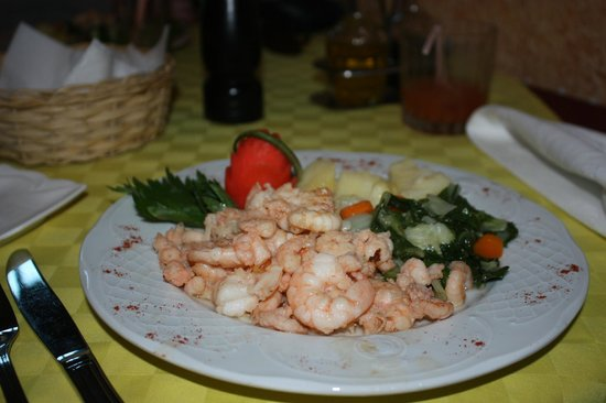 La Rampa: Huge  dish of shrimp