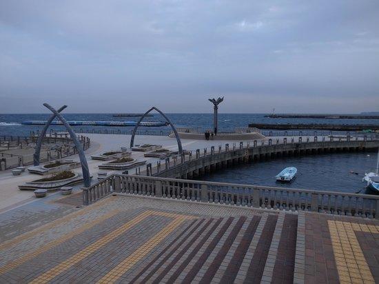 Nagisa Shinsui Park Moon Terrace : 先割れのデザイン
