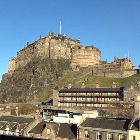 Apex Grassmarket Hotel: our view on our 1st morning