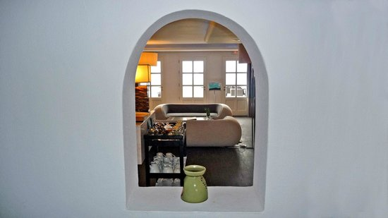 Aressana Spa Hotel and Suites: View trough window