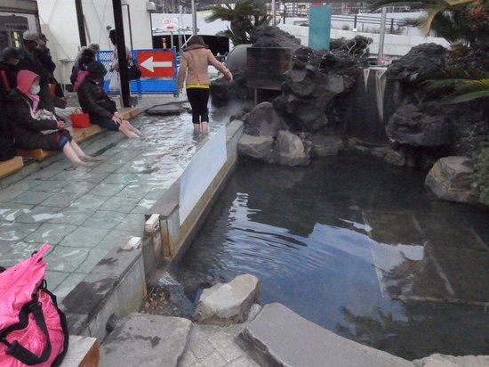 Ieyasu no Yu : 足湯以外は工事中でした