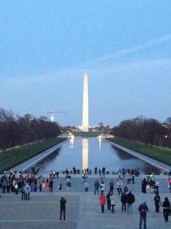 View from the Lincoln Memorial. It's a 2 for 1!