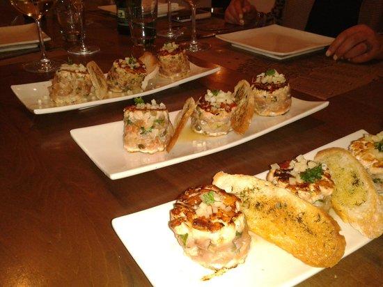 Bocanariz: Plato con salmon
