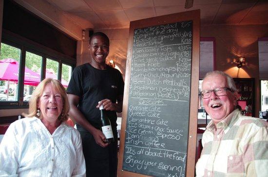 The Olive Tree: Blackboard menu - hard choice!