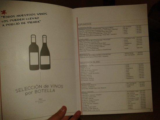 Bocanariz: La carta de vinos y su compromiso de precio