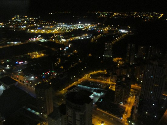 Gran Hotel Bali: View from 43rd floor in glass outside lift