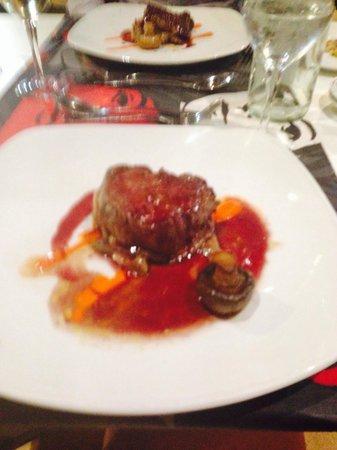 Barcelo Jandia Club Premium : Steak with red wine jus in the a la carte restaurant