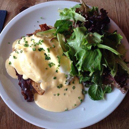 Chipps: Eggs benedict for breakfast.