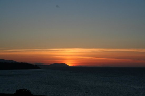 Sea Cliff Gardens Bed & Breakfast: Sunset from point