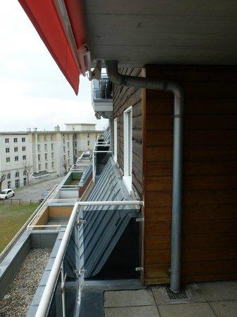 Hotel Central Residence : le balcon