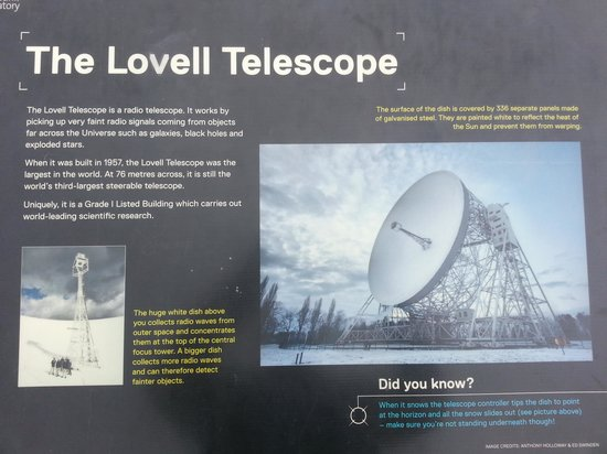 Jodrell Bank Discovery Centre : one of the many info boards