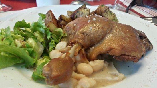 La Maison : Confit de canard menu brocante du 12.04.2014