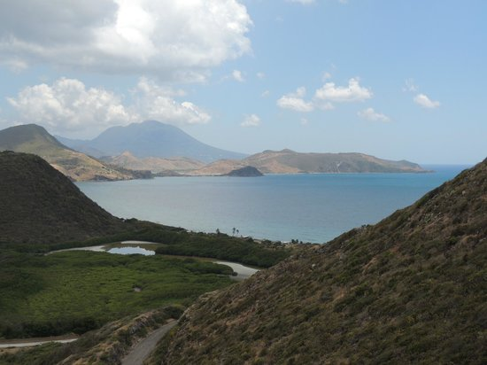 Island Paradise Tours: At an overlook of the Caribbean Sea